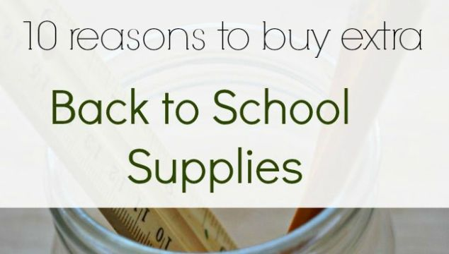 Back to school sales mean some great deals on back to school supplies! Here are 10 reasons to grab some extra.