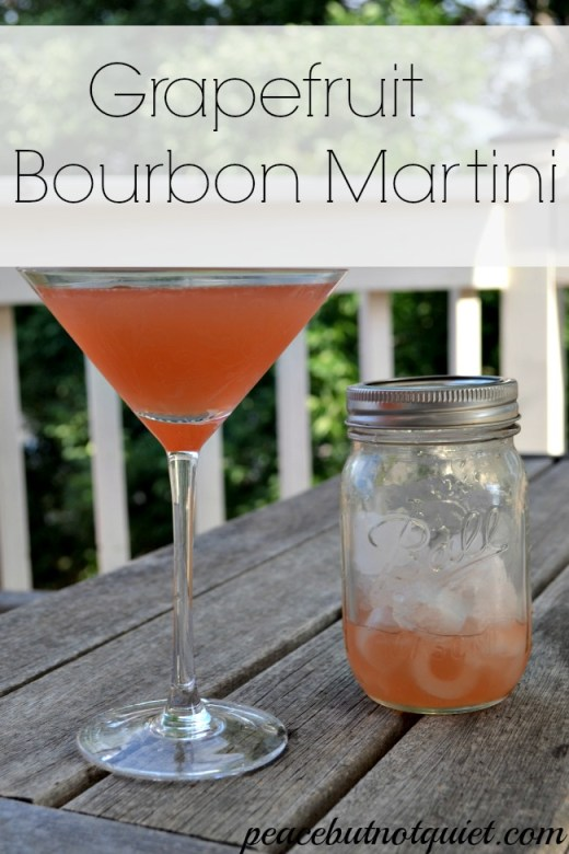 Grapefruit Bourbon Martini
