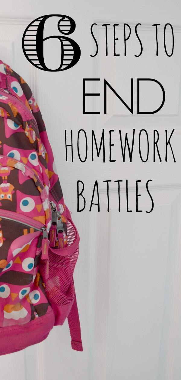 6 steps to end homework battles