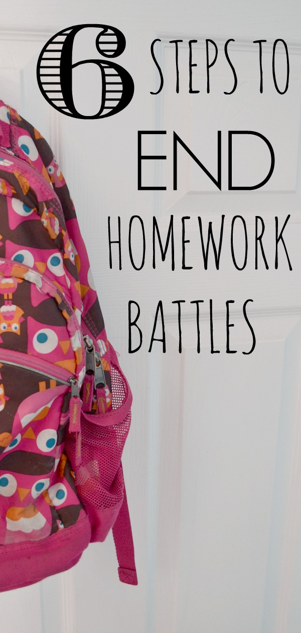 6 steps to end homework battles