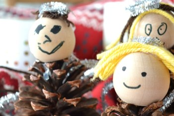 Pinecone Angel Christmas Crafts For Kids