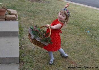 Winter Flower Girl Basket
