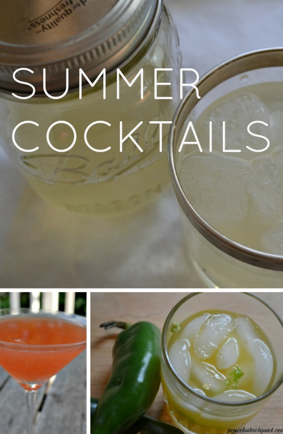 Looking for recipes for summer cocktails? These are great for parties, or just enjoying outside on a warm evening!