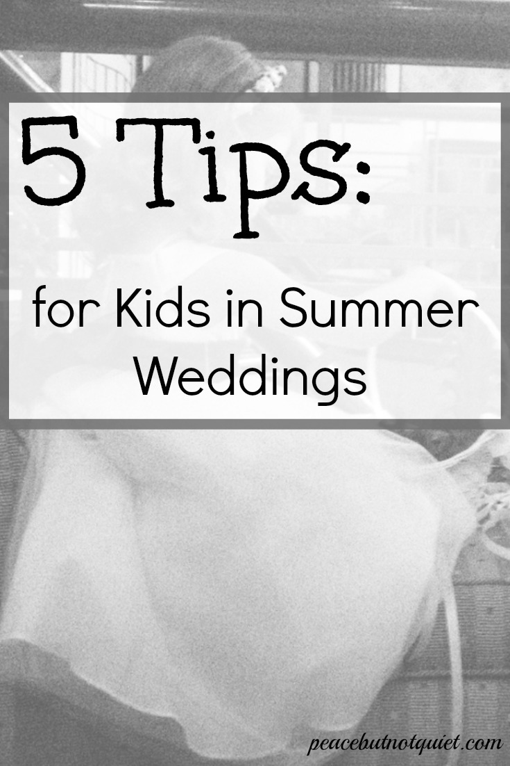 They're adorable...but they're unpredictable! If your children are in a wedding, be sure to check out these 5 tips for kids in summer weddings to make the day go smoothly!
