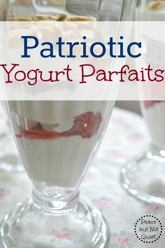These delicious yogurt parfaits use only 4 ingredients, are done in less than 10 minutes, and are a fun way to kick off a summer morning! (they also make a great, cool afternoon snack)