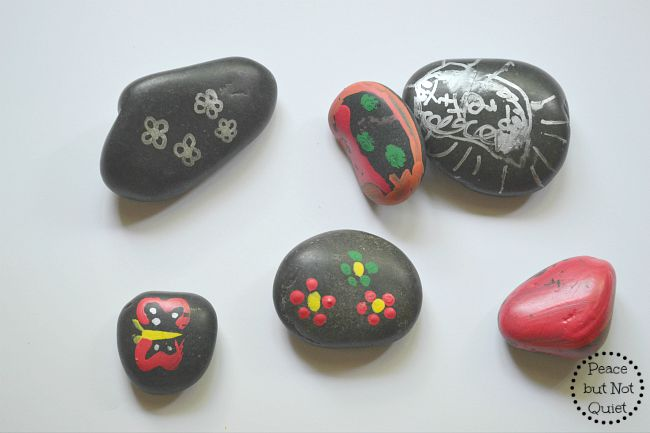 looking for a creative simple craft for kids these painted fairy garden rocks are - Garden Rocks