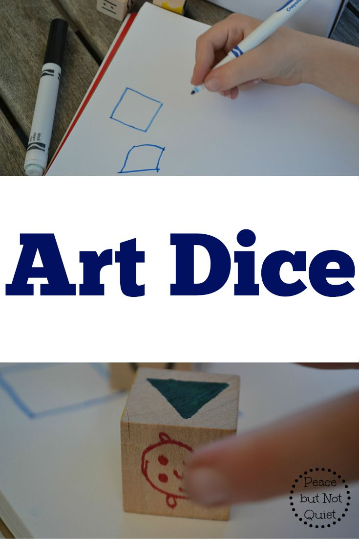Art dice are a wonderful way to spark kids' imaginations and get them drawing and creating! Try them today