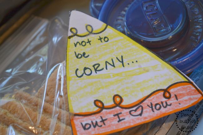 These fun, free candy corn printables make great lunchbox notes!