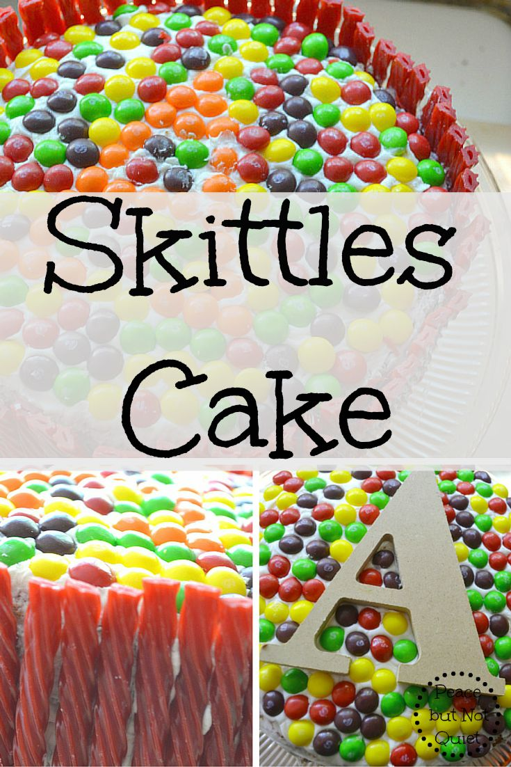 Skittles Cake Peace But Not Quiet