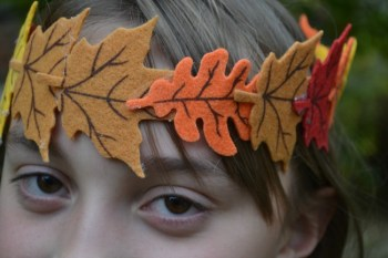 Felt Leaf Crowns