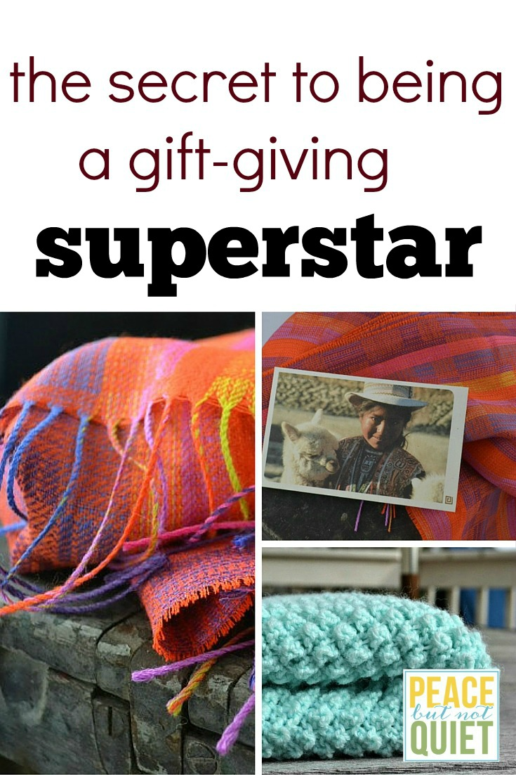 How do you find meaningful presents to give people? Here -- the secret to being a gift-giving superstar