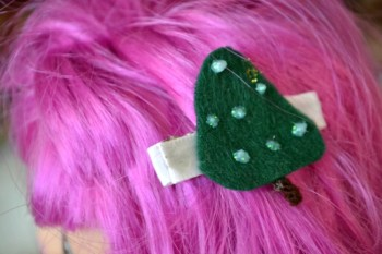 Christmas Tree Hair Clips