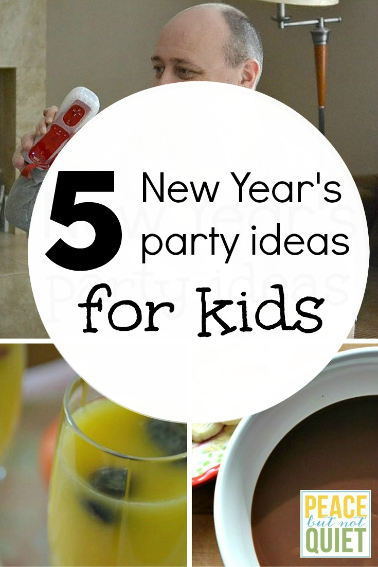 5 New Year's Eve Party Ideas for Kids -- fun, simple ideas and recipes to make your New Year's party a hit!