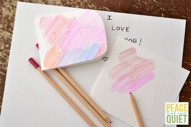 kid made Valentines Day cards with a secret message