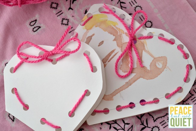 These lacing valentine cards are fun crafts for preschoolers (and older kids love them, too!)