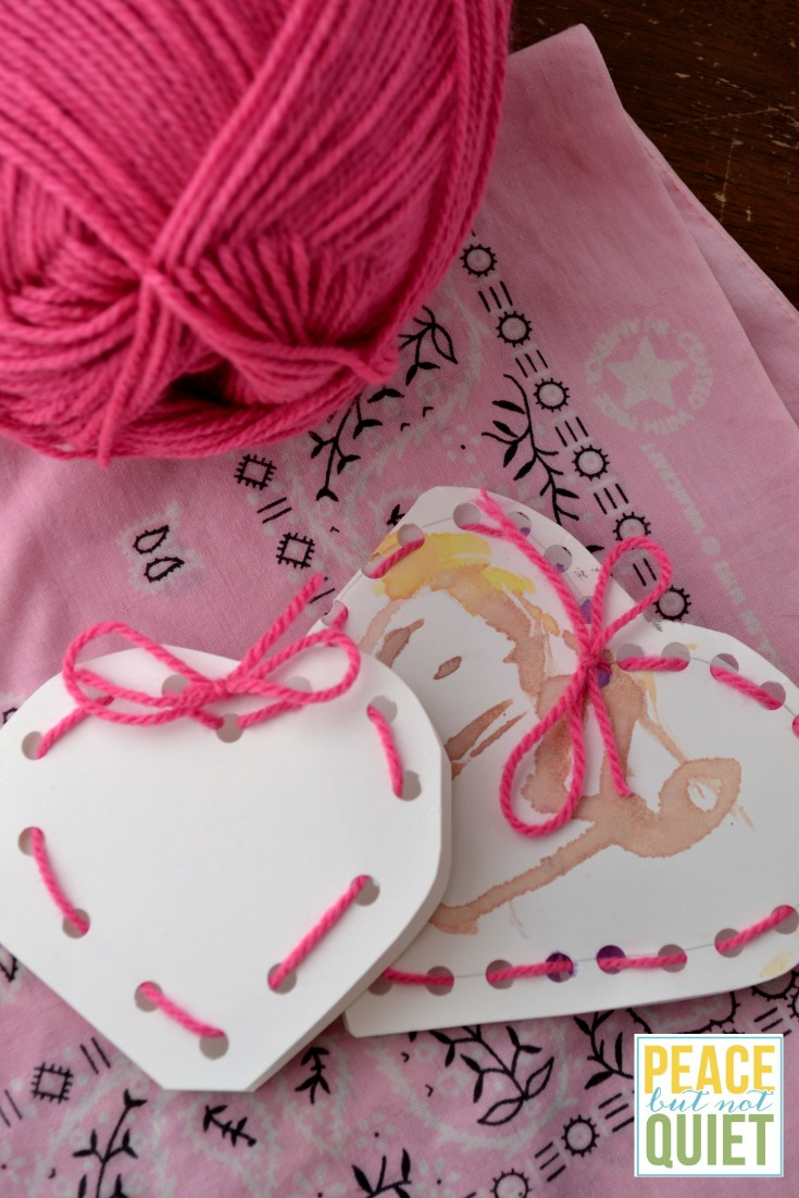 These lacing valentines are fun crafts for preschoolers (and older kids love them, too!)