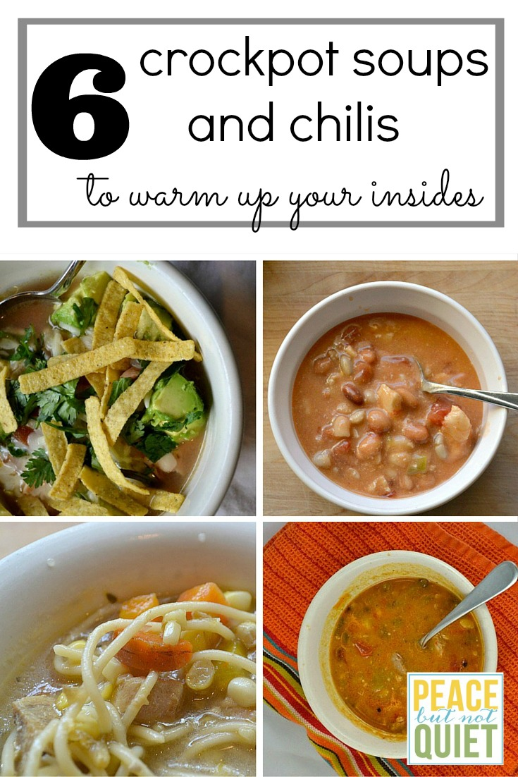These crock pot recipes for soups and chilis are easy to make and will warm you up on chilly days!