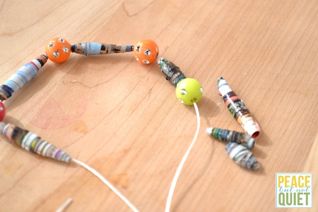 How to make magazine beads out of old catalogs -- a fun craft for kids!