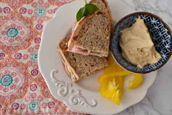 Ham and Hummus Sandwiches