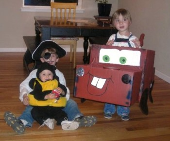 How to Make a Mater Costume from a Cardboard Box