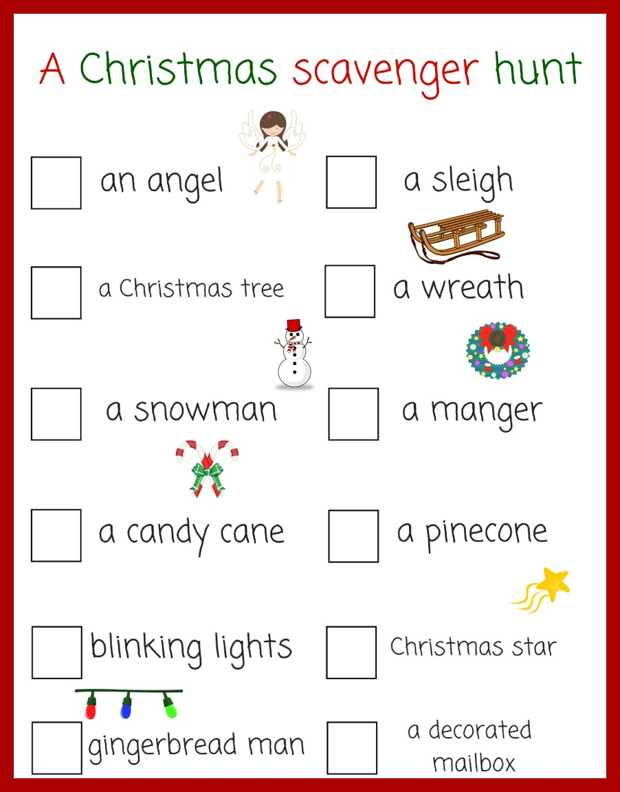 A Christmas scavenger hunt - pinterest