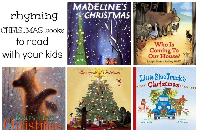 Read these fun rhyming Christmas books with your kids!