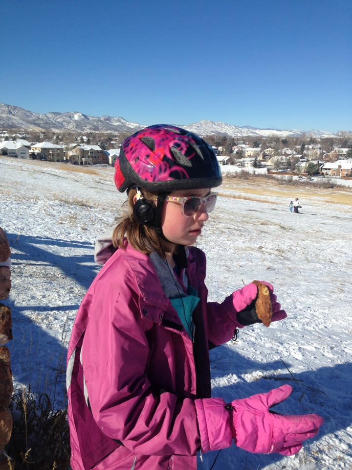 Alexis sledding