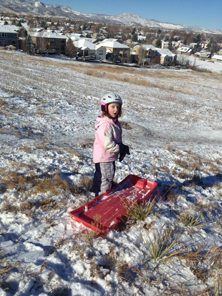 April sledding