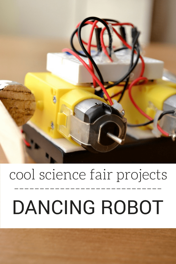 Looking for cool science fair projects? Try making a robot that dances! Kids will love this amazing STEM project