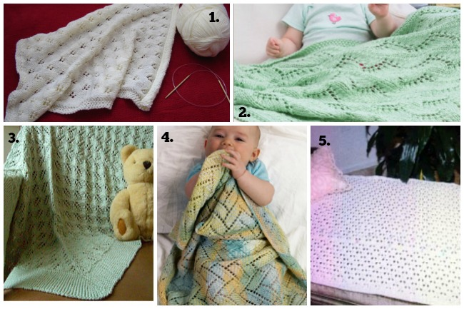 lacy baby blanket knitting patterns