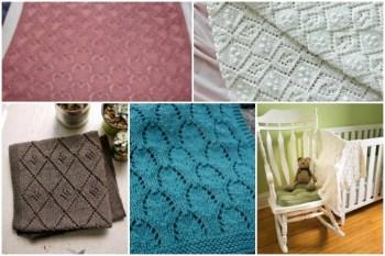 11 Beautiful Lacy Baby Blanket Knitting Patterns