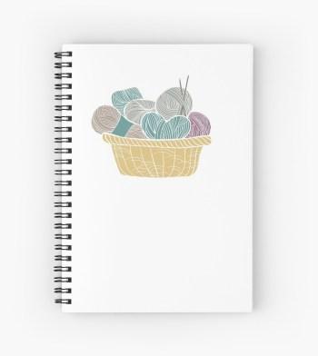 Basket of Yarn Knitting Notebook