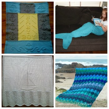10 Nautical Baby Blanket Knitting Patterns