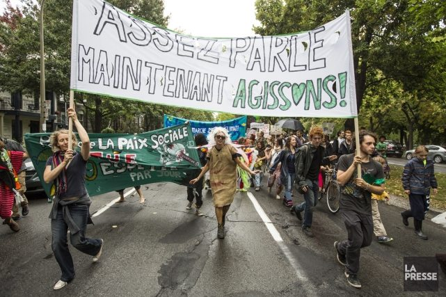 Climate march Montreal