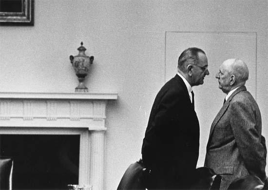 LBJ and Sen. Richard Russell