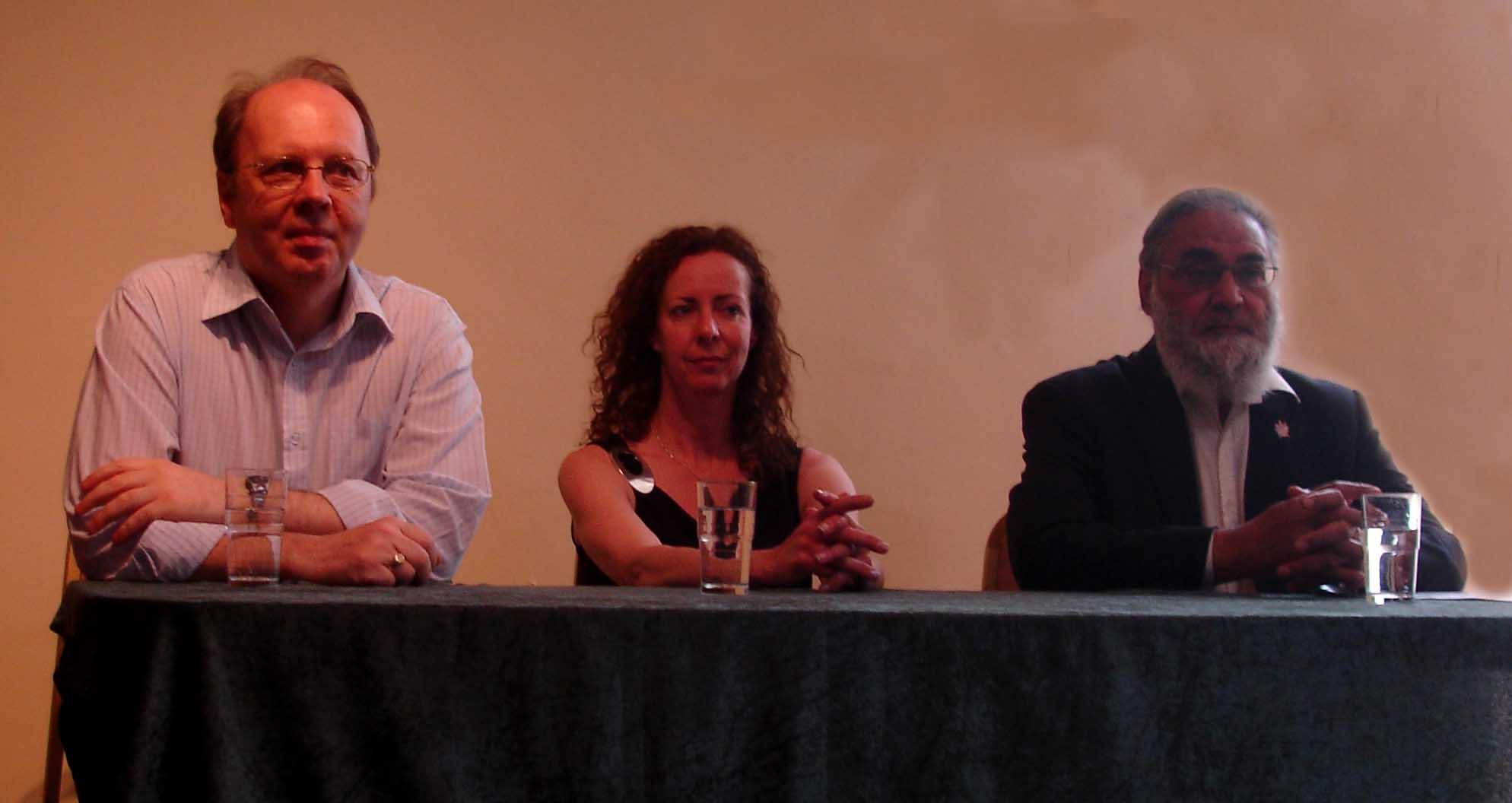 Nigel Barrett, Susan Beresford and Cllr Faizullah Khan