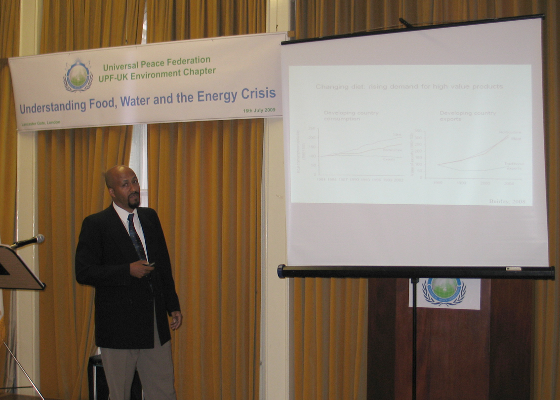 Dr Yacob Mulugetta, Deputy Director, Centre for Environment Strategy Surrey University