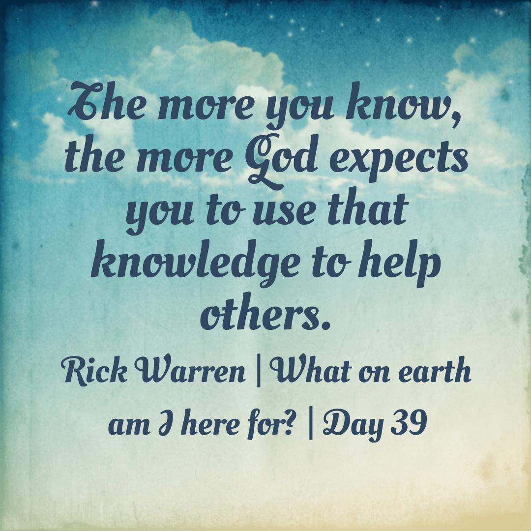 Purpose Driven Life Day 37 39