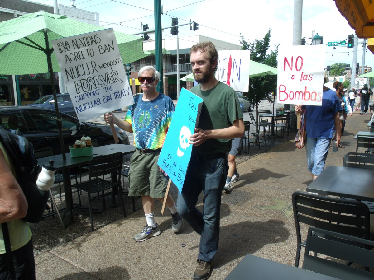 March For Nuclear Weapons Treaty In University City