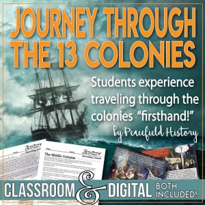 Journey though the Colonies Cover
