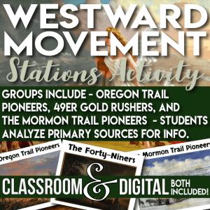 Westward Migration Stations Activity