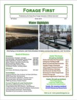 Peace Region Forage Association - Forage First Newsletters