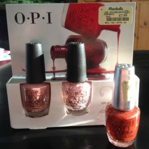 OPI Java Mauvea, Let's Do Anything We Want, and DS Bold.