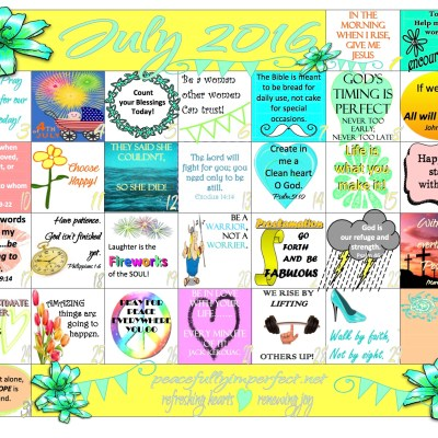 Your complimentary July 2016 Calendar is here!