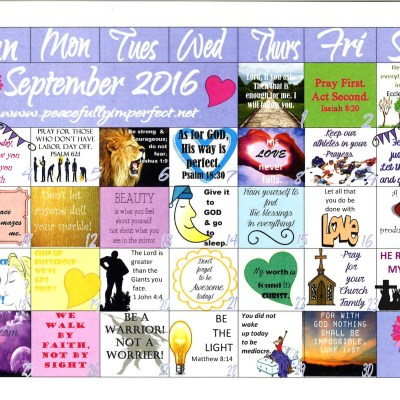 Your complimentary September 2016 Calendar is here
