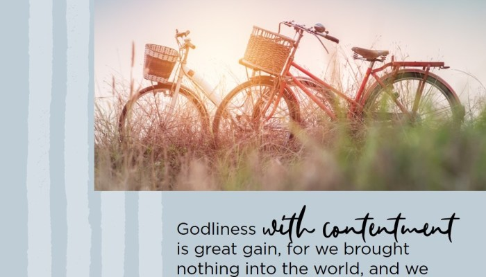 Clinging to Joy and Contentment