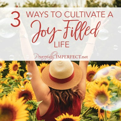 3 Ways to Cultivate a Joy-Filled Life