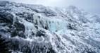 Ice above Chimney Pond