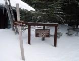 Saddle Trail Signage at Chimney Pond