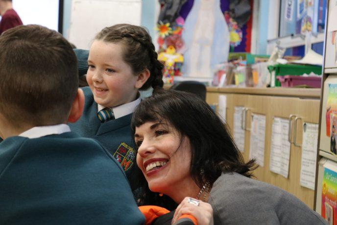 Bridget Brownlow at John Paul II Primary School, Belfast
